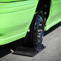 On the skid plates