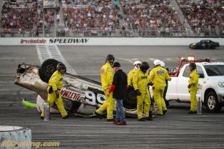 Car 56 flipped - thankfully all were ok in the car
