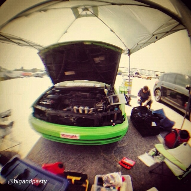 Getting the car ready - lots to do.