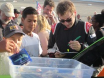 Signing an autograph