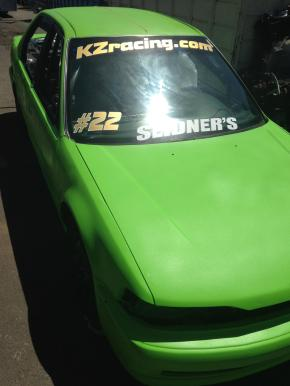 Alex Miller put a fresh coat of paint on the car