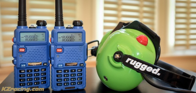 Awesome Rugged Radios green headset