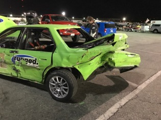 Heavy damage to the car